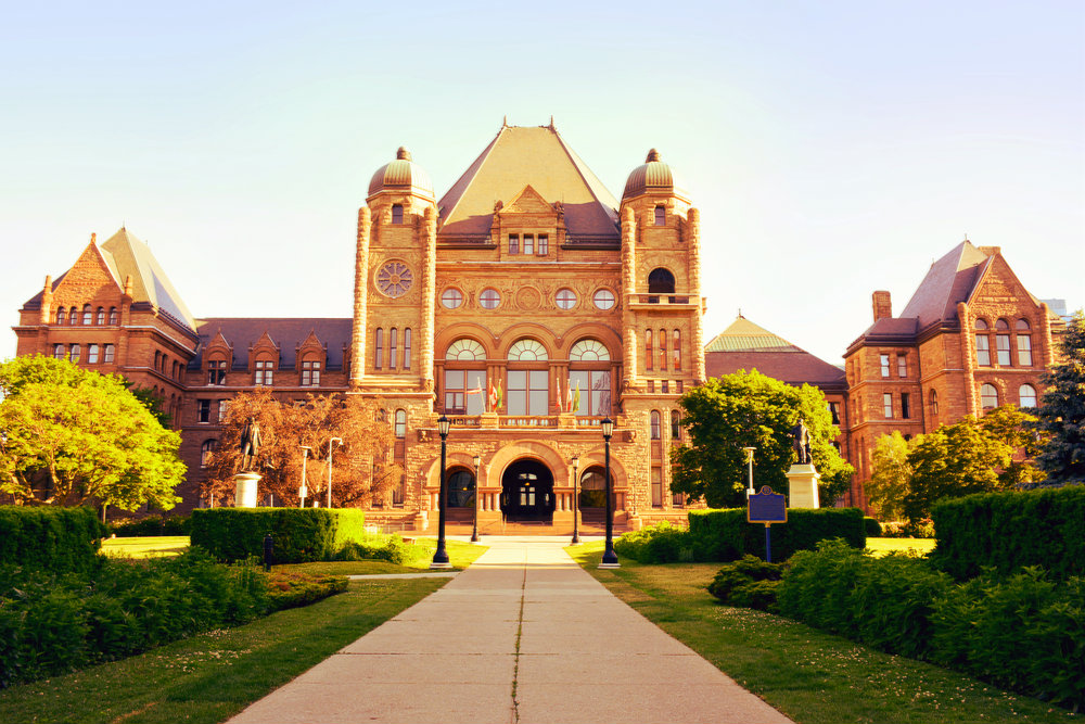 Image Of Pathway Leading To Legislative Building, Queen's Park, Toronto, Ontario.
