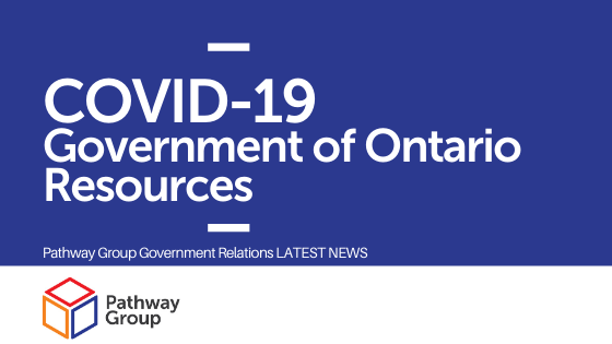 Government Of Ontario COVID-19 Resources For Businesses, Families And Individuals